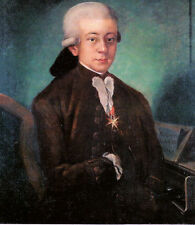 Hand-painted Portrait Oil Painting Wall Art on Canvas,WOLFGANG AMADEUS MOZART