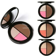 NEW Makeup Blush Bronzer & Highlighter Contour Cosmetic 3 Color Power Palette
