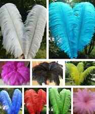 New Wholesale 10pcs Beautiful Natural Ostrich Feathers 6-8inch/15-20cm 11 Colors
