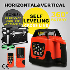 ROTARY LASER LEVEL GREEN BEAM CROSS LINE CONSTRUCTION ELECTRONIC SELF-ROTATING