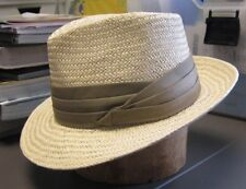 Hat Band Pleated Cotton Pin On Renew Your Straw Fedora One Size White or Khaki