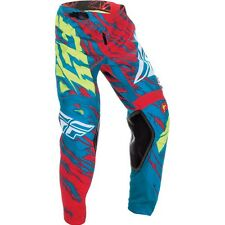 2017 Fly Racing Kinetic Relapse YOUTH MX Motocross Pants - Teal / Red / Hi-V