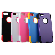 Rubber Hard Hybrid Rugged Rubberized Silicone Cover Case Skins for iPhone 5 5S