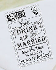 Custom Save The Date Rubber Stamp UNMOUNTED/WOOD MOUNTED Stamp Design