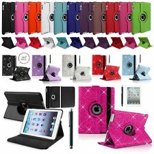 "Leather 360° Rotating Smart Stand Case Cover For APPLE iPad 234 Pro 9.7"" Mini 23"