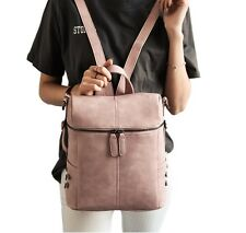 Vintage Women Faux Leather School bag Backpack Fashion Shoulder Bag Travel Rucks