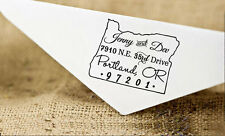 Unmounted Wood Mounted Oregon State Map Stamp Custom Return Address Rubber Stamp