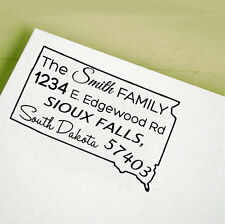 Custom Personalized Stamp UNMOUNTED/WOOD MOUNTED Return Address Rubber Stamp