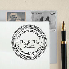 Unmounted Custom Address Stamp Wood Mounted Return Address Personalize Stamp