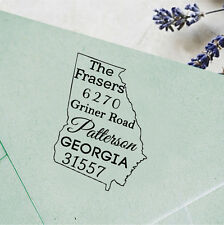 Unmounted Wood Mounted Custom Return Address Stamp Personalize Georgia Map Stamp