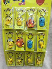 Lot Pikachu Pokemon Ball Key Chains Metal 3D Stereo Key Ring Party Gifts O-56