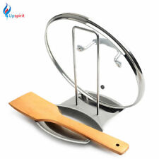 Stainless Steel Storage Rack Holder for Pot Lid Fork Spoon Flatware Organizer