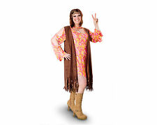 Hippie Female Funky Swirl Plus Size Stretch Dress Vest Halloween Party Costume