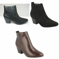 Spot On Womens/Ladies Heeled Pull On Ankle Boots