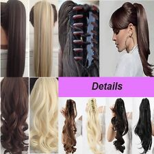 US seller Claw Pony tail Ponytail Clip In On Hair Extensions real natural tere