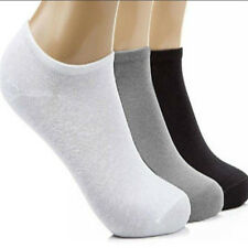 1Pairs Trainer Liner Ankle Socks Mens Womens Cotton Rich Sport Gray Black White