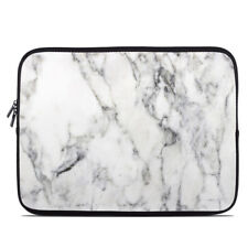 Zipper Sleeve Bag Cover - White Marble - Fits Most Laptops + MacBooks