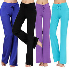 Womens Fashion Modal Comfortable Yoga Gym Sports Square Dance Long Pants Modish