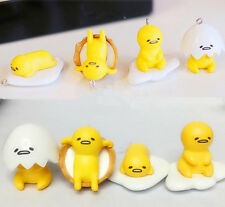 4pcs Egg Ring Mascot Bag Pendant KeyChain Gudetama Doll Plush Stuffed Toy