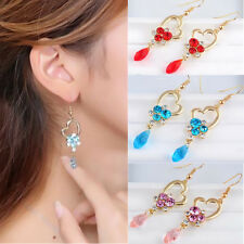 Fashion Jewelry Pop Multicolor Big Hot Stones Charm Drop Earrings Long Crystal