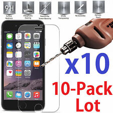 10x Wholesale Lot Tempered Glass Screen Protector for Apple iPhone 7 retail pack