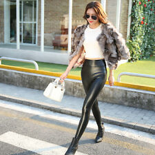 Women Sexy PU Leather Skinny High Waist Leggings Stretch Pencil Pants Trousers