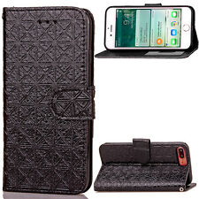 Frame Leather Stang Filp With Strap Card Wallet Case Cover For iphone 7 / plus