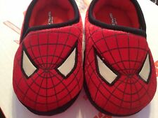 Spiderman red boy slip on  slippers youth S 5/6,   or M 7/8  toddler boy