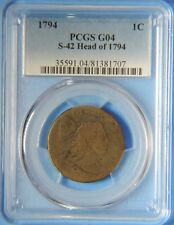 1794 Head of 1794 Flowing Hair Large Cent S-42 PCGS Graded G04