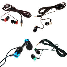 Metal Earbud Stereo Earphone New Subwoofer Roping MP3/Mp4 Ear Headphone 3.5mm
