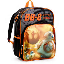 "STAR WARS EPISODE VII BB-8 16"" Full Size Backpack w/Optional Insulated Lunch Box"