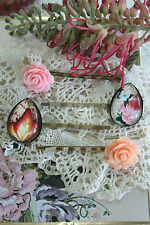 Vintage Rose Flower Bobby Pins Hair Clip Rockabilly Butterfly Teardrop Hair Pins