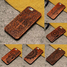 Real Natural Wooden Wood Wooden Bamboo Pattern Slim Case Cover For iPhone 7 IOS