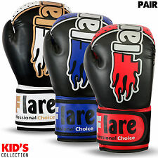 Kids Boxing Gloves Punch Bag Sparring MMA Training Mitts Unisex Size 8oz