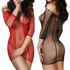 Sexy Women's Lingerie Nightwear Underwear Babydoll Sleepwear Fishnet Dress FT67
