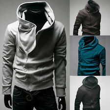 Mens Casual Zipper Sexy Slim Fit Top Designed Hoodies Coat Jacket Sweater M-XXXL