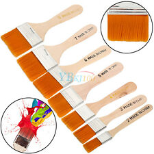 7pcs/set Bristle Hair Wooden Handle Paint Brush Artist Watercolor Oil Painting