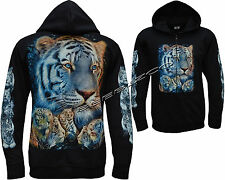 New Siberian Bengal Tiger With Cubs Zip Zipped Hoodie Hoody Hooded Jacket M-3XL