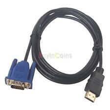 6/10/15FT HDMI Male to VGA HD-15 Male Adapter Cable Cord for DVD HDTV PS3