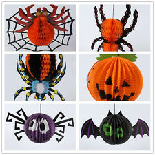 Halloween Paper Hanging Spider Bat Pumpkin Hanger Holiday Party Home Decor New