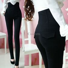 Womens Casual High Waist Stretch Skinny Leggings Pencil Pants Slim Fit Trousers