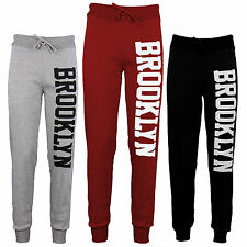 Women's New Brooklyn Print Jogging Legging Running Gym Tracksuit Bottoms  8/14