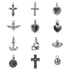 Cremation Jewellery for Pet Ashes Funeral Silver Heart Cross Pendant Necklace