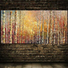 HOT-Modern Abstract hand-painted Art Oil Painting Wall Decor canvas Woods Tree