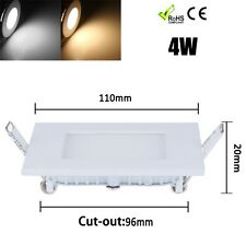 4W LED Panel Light downlight Recessed Ceiling lamp White Warm 100-240V square