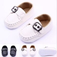 Toddler Infant Baby Soft sole Sneaker Prewalker Boy Soft Leather Crib Shoes