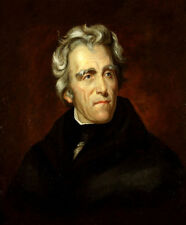 "100% Handcraft Modern Portrait Art Oil Painting on Canvas,ANDREW JACKSON 24""x36"""