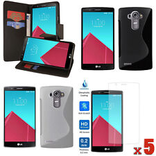 LOT 8 ACCESSORIES Wallet PU Case + TPU Case + Screen Protector For LG G4