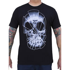 Men's Shattered By Josh Stebbins T-Shirt Black Broken Skull