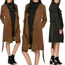 Fashion Womens Winter Long Coat Jacket Trench Windbreaker Parka Cardigan Outwear